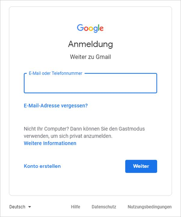 anmelden-gmail
