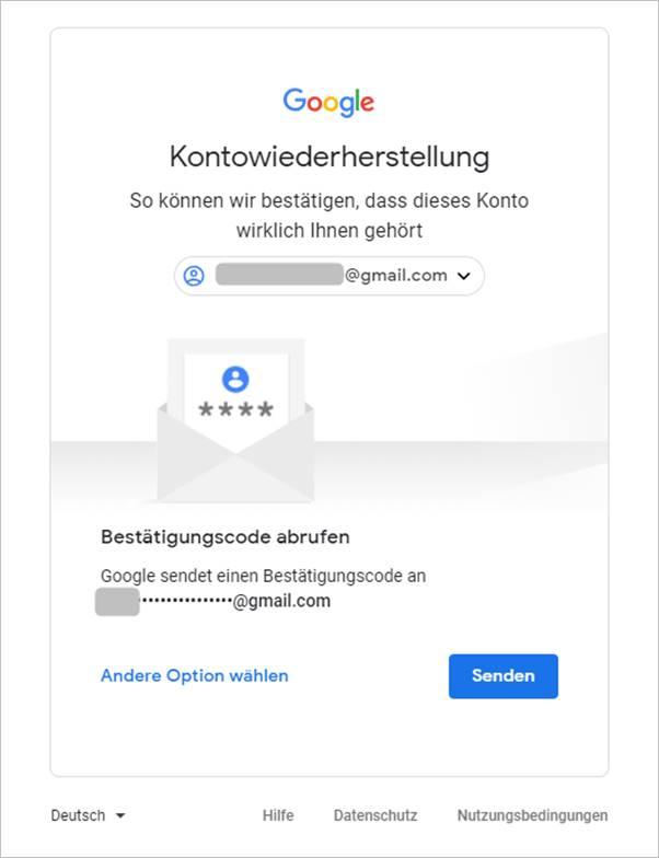 bestätigungscode-abrufen-gmail