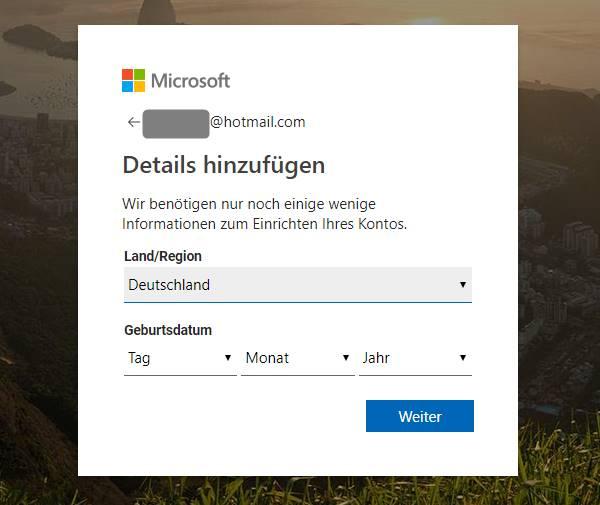 hotmail-details-hinzufügen