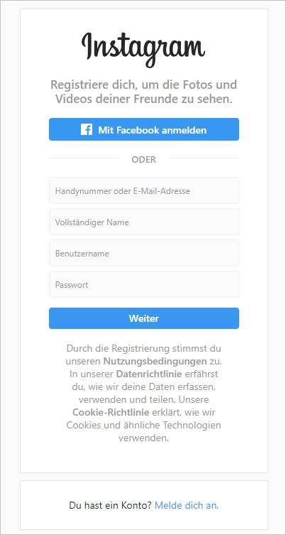 registriere-dich-instagram