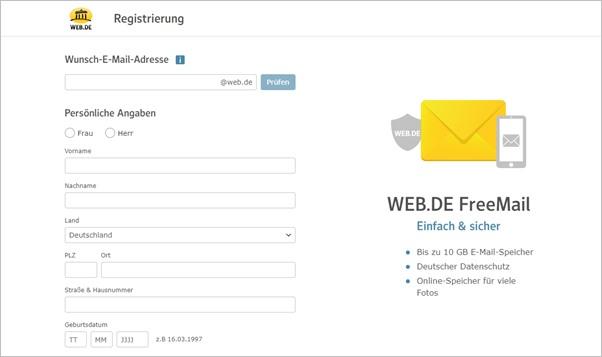 registrierung-web-de-freemail