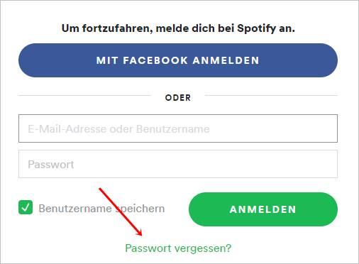 passwort-vergessen-spotify