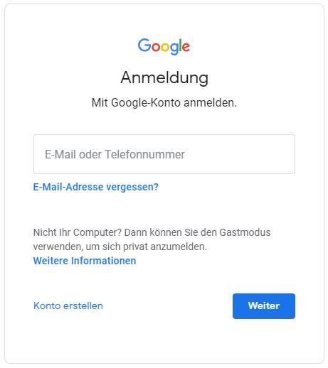 anmeldung-google